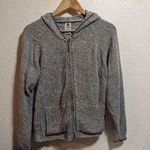 Columbia Zip up knit Hoodie E134